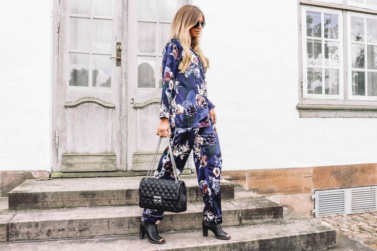 Style your pyjamas with high heels and a classic bag ... Se more on Grey//Matter ...