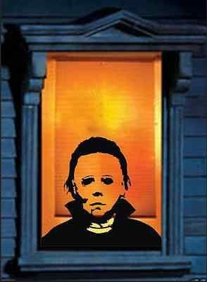 michael myers horrifying wall decal decor scary ideas - Cool Halloween Pics