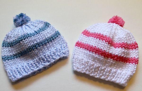Free Knitting Pattern Quick Knit Newborn Baby Hat Easy