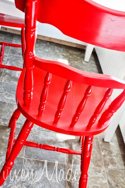 vixenMade: Red Kitchen Chairs