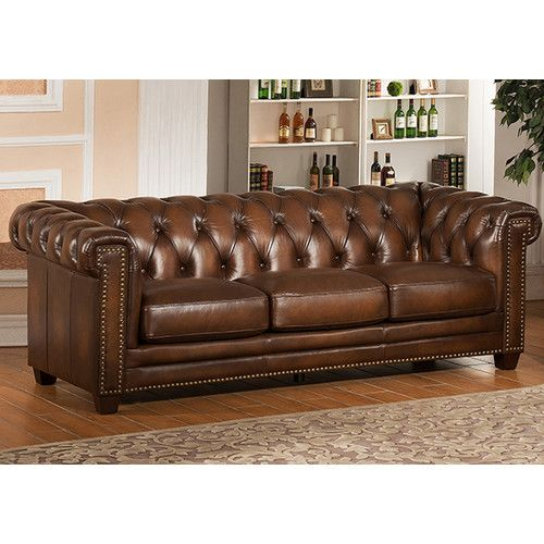 Found It At Wayfair   Hickory Leather Sofa $3000 Free Shipping