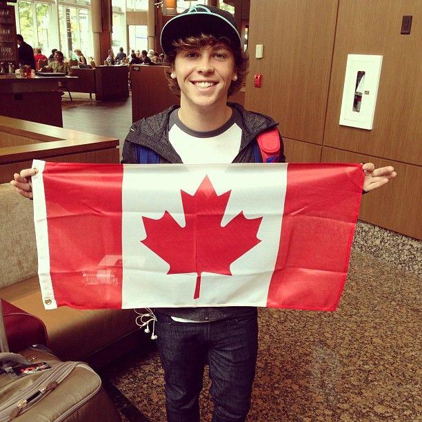 Keaton Stromberg #emblem3 Canadian pride!!