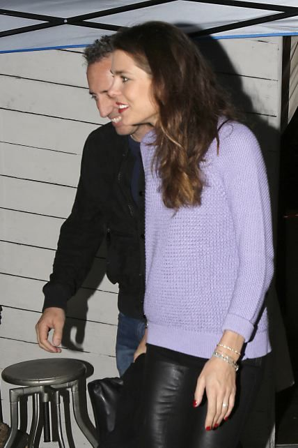 Charlotte Casiraghi with her boyfriend, and father of her child, Gad Elmaleh,  in Santa Monica, California