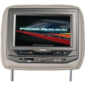 17 best images about electronics car electronics power acoustik hdvd 73bg 7 universal headrest widescreen video monitor dvd beige