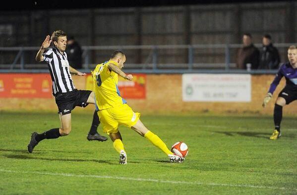 Massiah Mcdonald scores for King's Lynn Town v Dereham Town 19/11/13