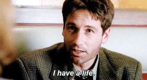 'I have a life!' - A gif for Mulder and XPhiles everywhere (or maybe that's just me) | X-Files 'Jersey Devil'