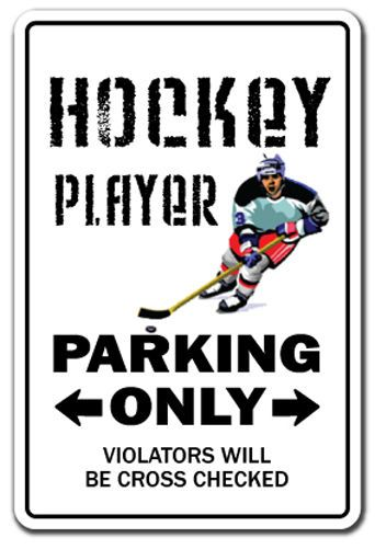 HOCKEY PLAYER Sign game funny team sign NHL street field stick puck gift fan 22099362494 | eBay
