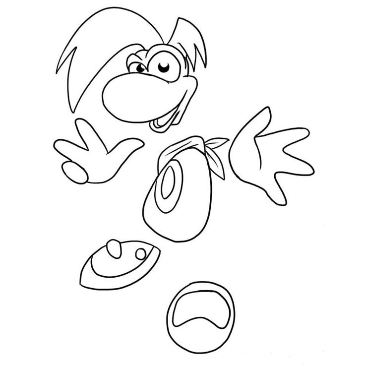 Printable coloring pages - Rayman (Video Games)