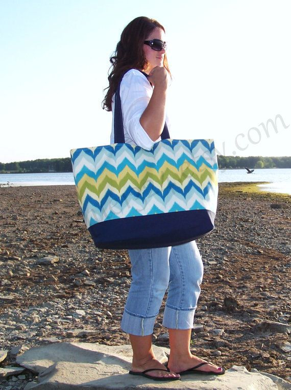 Extra Large Beach Bag Quot Family Size Quot Canvas Tote Bag In