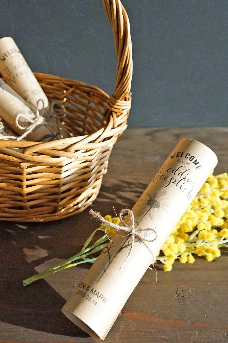 春の結婚式に!お花デザインのくるくる席次表を手作りしよう【無料テンプレート】 / ARCH DAYS ウェルカムスペース ペーパーアイテム 装飾アイテム / WEDDING | ARCH DAYS