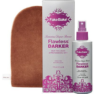 Fake Bake Flawless Darker Self-Tan Liquid & Professional Mitt