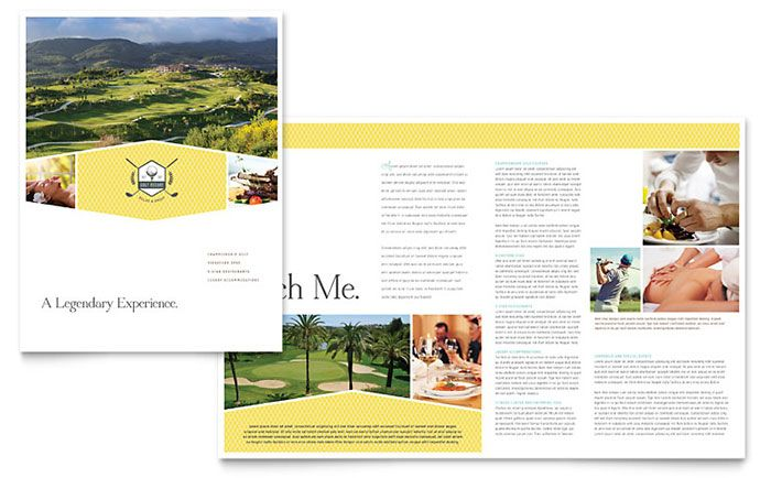 Golf Resort Brochure Design Template by StockLayouts