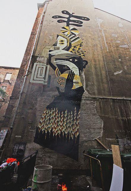 collaborative wall with Hemoroid, Warsaw, 2012 // photo by Wojciech Kolacz