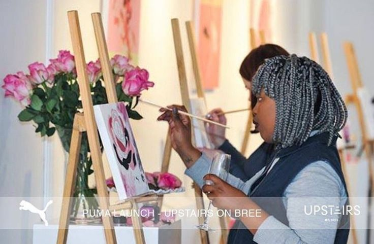 Upstairs on Bree saved to Upstairs on Bree Puma Product Launch at Upstairs on Bree #puma #upstairsonbree #decor #event #eventdecor #floral #productlaunch #venue #art #painting #creative #ideas