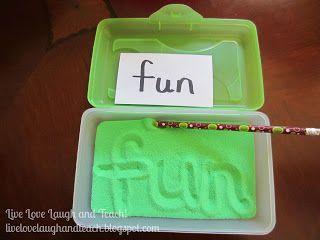 Live, Love, Laugh and Teach!: Spelling/Sight Word Practice Part 3 (sensory ideas to learn spelling)