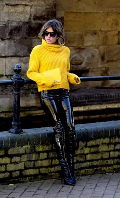 Black Shiny Pvc Trews Clothes And Style Pinterest