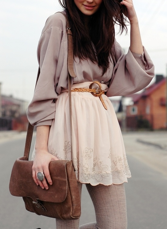 perfect skirt and bag and everything!