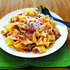 Rustic Pork Ragu -good with Montepulciano