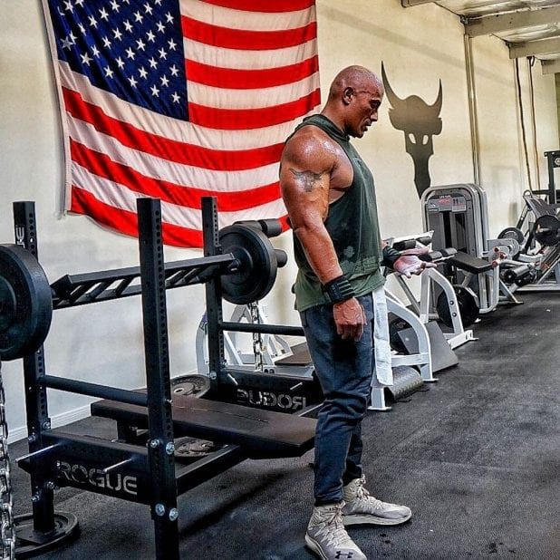 Dwayne The Rock Johnson S Insane Home Gym And Traveling Iron Paradise Dwayne The Rock The Rock Dwayne Johnson Dwayne Johnson