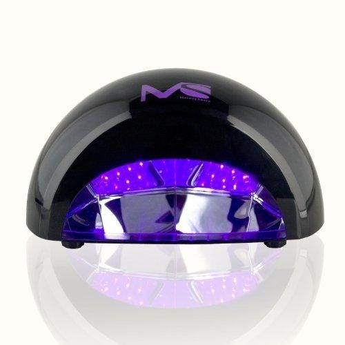 MelodySusie 12W LED Nail Dryer - Nail Lamp Curing LED Gel & Gelish Nail PolishProfessional for Nail Art at Home and Salon - Black