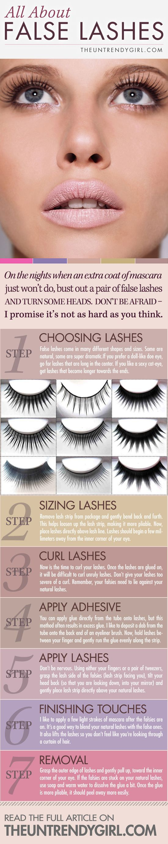 What kind of false eyelashes for your type of eyes?