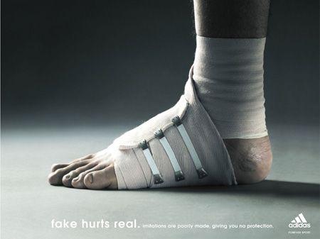 Adidas : Fake Hurts Real