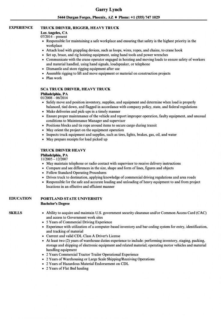 Explore our image of truck driver job description template