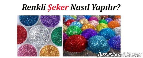 Renkli Şeker Nasıl Yapılır? Resimli Tarif - http://www.bizkadinlaricin.com/renkli-seker-nasil-yapilir-resimli-tarif.html  Şeker, kurabiye, kek gibi hamur işleri tariflerinin ana maddeler biridir. Tatlıların daha çekici görünmesi için, üstünde renkli şeker ile dekore edebilirsiniz. Kendi renkli şekerinizi yapmak ise oldukça basit ve ucuzdur. Renkli şeker nasıl yapılır? resimli tarif makalemizde bu şekerin yapılışını anlattık. Malzemeler Şeker Gı
