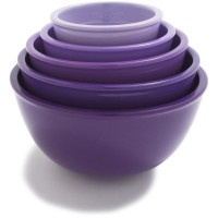 Sur La Table prep bowls in yummy plum - less than ten bucks. I have these and they are my FAVORITE item in the kitchen! Absolutely necessary.