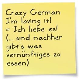 Lustige Sammlung verrückter #deutscher #Wörter / #Anglizismen mit 1:1 #Übersetzung und einer besseren Version. Im Beispiel: der bekannte #Werbeslogan. Was für eine schlechte #englische #Grammatik :-( Weshalb? Das erfährst Du in meinem Blog: http://www.flyingenglishcoach.de/2012/05/27/denglisch-verruckte-worter/