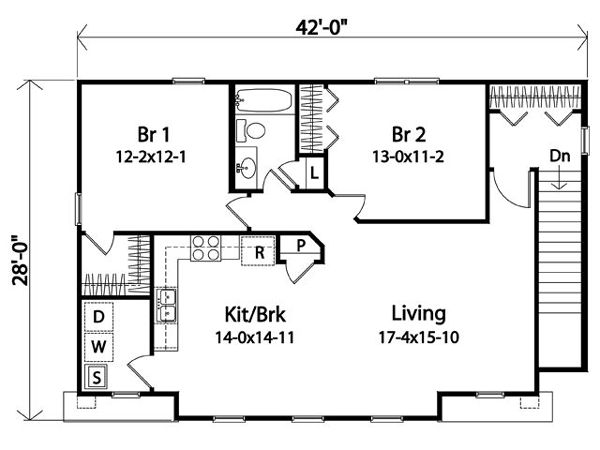 47 best house with garage under images on pinterest for 2 bedroom 2 bath garage apartment plans
