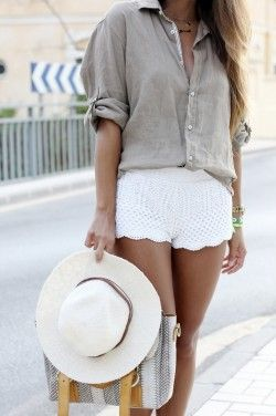 Knitting Trend. Crochet shorts. Free pattern. Белые и черные шорты крючком. Бесплатное описание