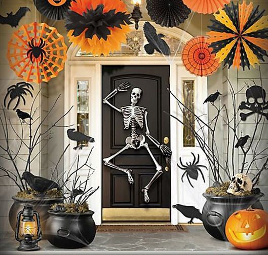front door halloween decorations traditional spooky and fun decor from party city - Party City Halloween Decorations