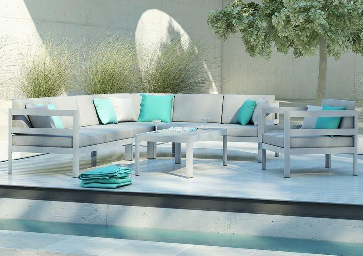 Meble ogrodowe BARCELONA - prod. Zumm Garden Furniture (meble ogrodowe aluminium, meble z aluminium, nowoczesne meble ogrodowe, ekskluzywne meble ogrodowe aluminium, zestawy ogrodowe z aluminium, meble tarasowe, stół ogrodowy, fotele ogrodowe, krzesła ogrodowe, meble tekowe, meble teak, teakowe meble ogrodowe, zestawy mebli z aluminium, zestaw mebli ogrodowych teak, Garden Space)