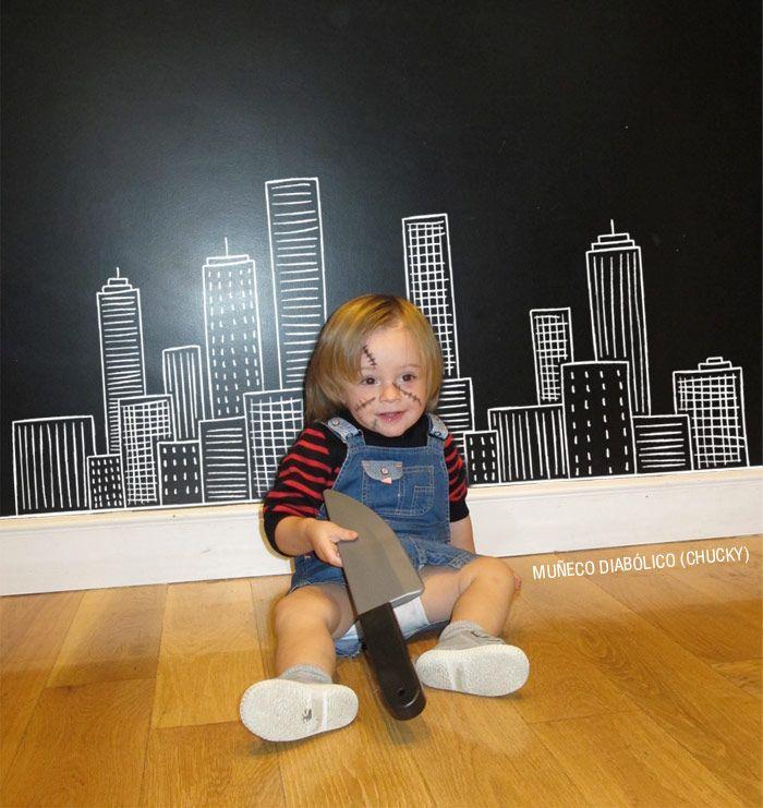 Disfraz de Chucky. Disfraces de última hora para niños pequeños. Last minute costumes for toddlers | Blog www.micasaencualquierparte.com