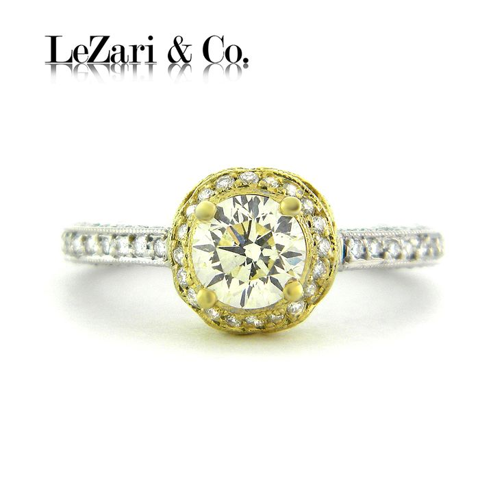 50 best proposal ideas lezari images on pinterest style x502 170ct round blooming diamond halo engagement ring pave setting in two tone white and yellow 18k gold thecheapjerseys Gallery