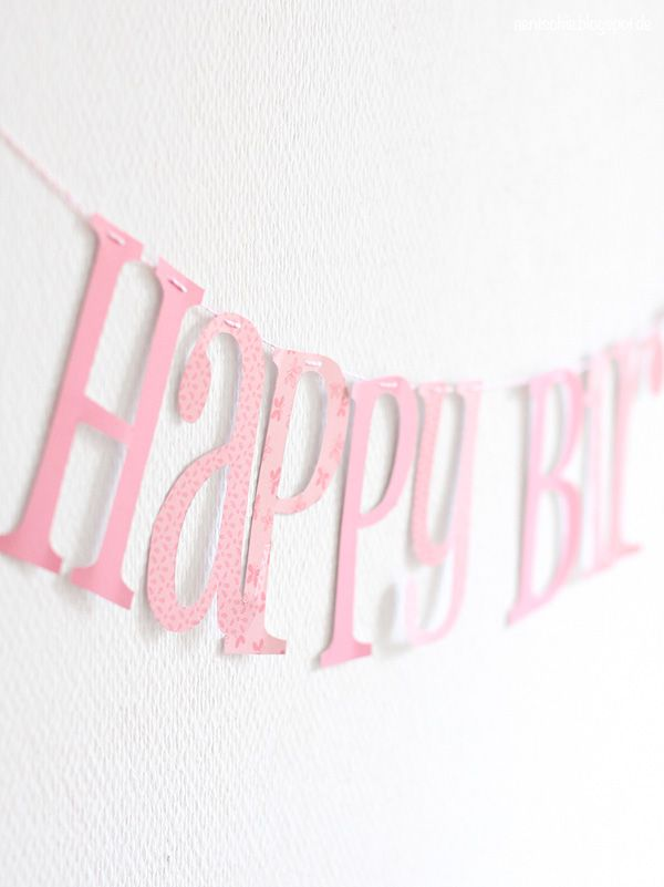 aentschies Blog: Happy Birthday Girlande - Free Printable http://aentschie.blogspot.de