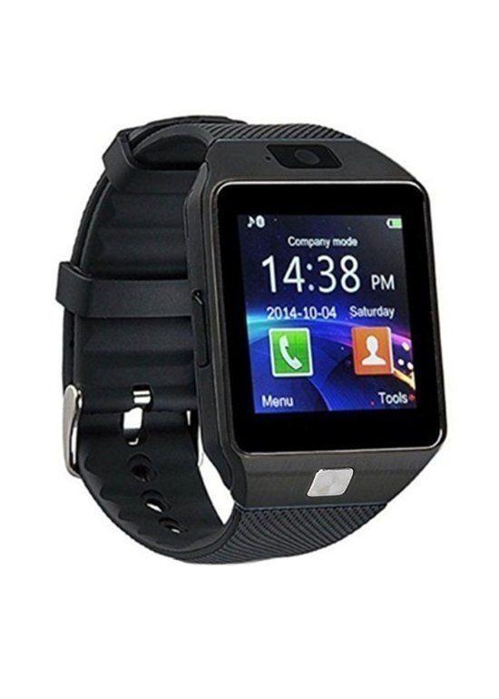 1e50215d99c Smartwatch DZ09 Câmera 2.0 MP Bluetooth Conectividade Redes Sociais Fashion  - Preto