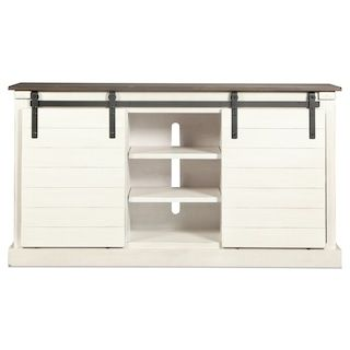 """Lawson 65"""" TV Stand - Distressed White"""
