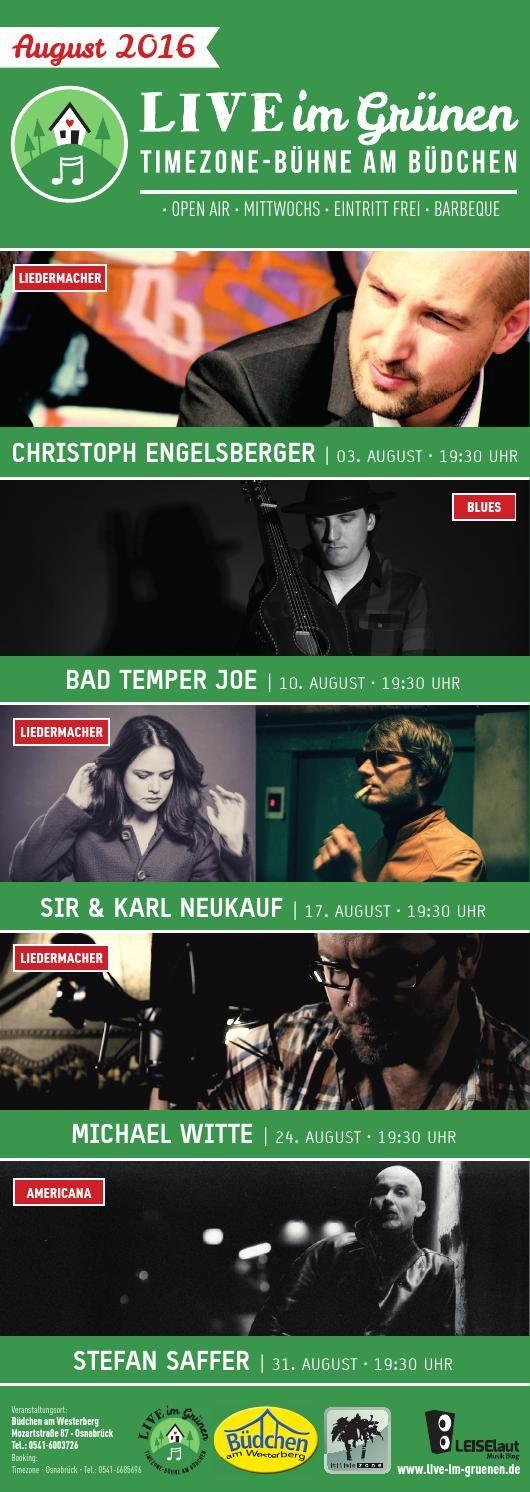 Programm Live im Grünen August 2016