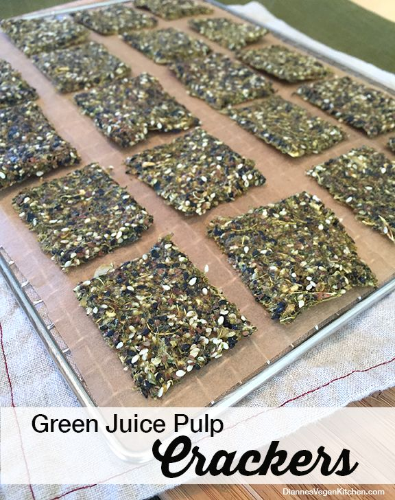 Love this! Dianne uses leftover pulp from juicing to make crackers!  via @diannewenz