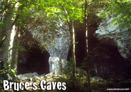 Bruce Caves (along the Bruce Trail)   east of Wiarton