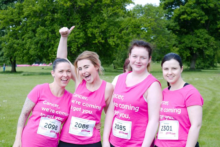 Cancer Research Race For Life - Camperdown Pretty Muddy. The ladies before