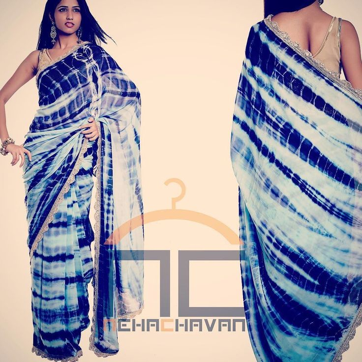You cannot miss this Sari! Chic and stylish This beautiful tye dye georgette saree is iceblue and purple shades edged with gota scallop border is a must in your wardrobe! For details or purchase email us at fashion@nehachavan.com or drop in your email id in the comment below and we will get back to you soon!! This product can be customised! We deliver worldwide. #NC #NehaChavan #bridetobe #bridalwear #chic #colors #contactus #blue #designerwear #designstudio #designersaris #fashion…