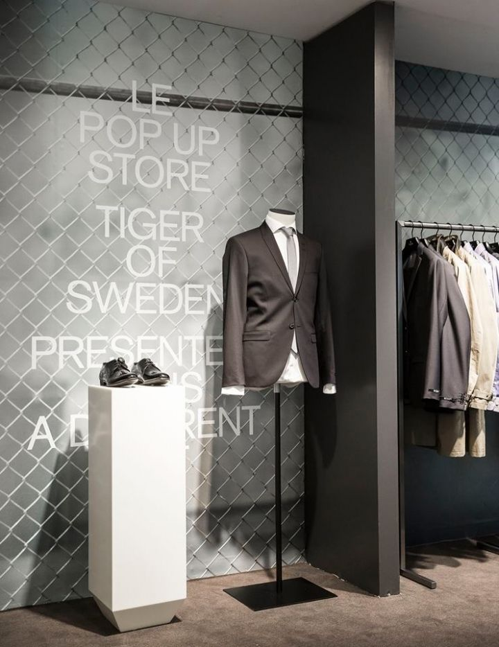 Tiger of Sweeden Pop-up Store at Galeries Lafayette, Paris – France » Retail Design Blog