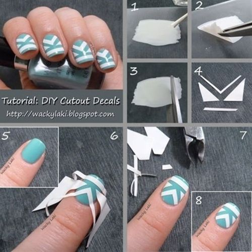 DIY Cut Out Decals Nail Design