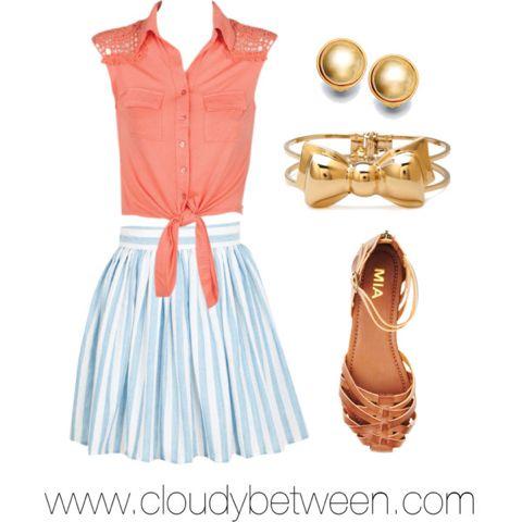 Tween fashion coral