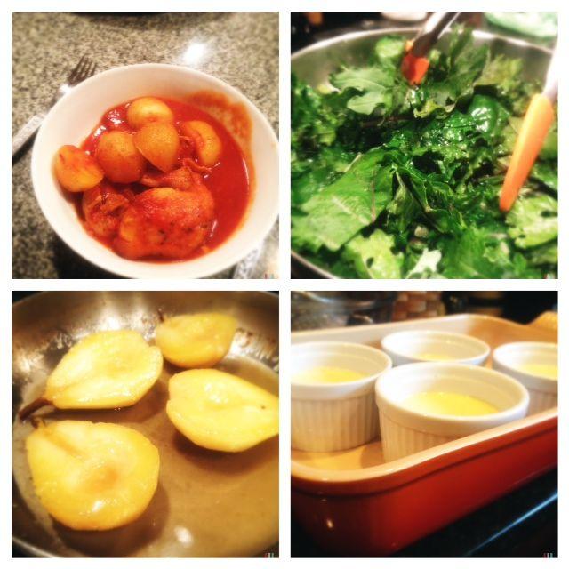... Sunday Dinner – Chicken Bouillabaisse and Honey Cardamom Custard