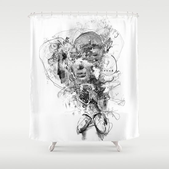 Shower Curtain 'Happy' By Mark Francis Williams
