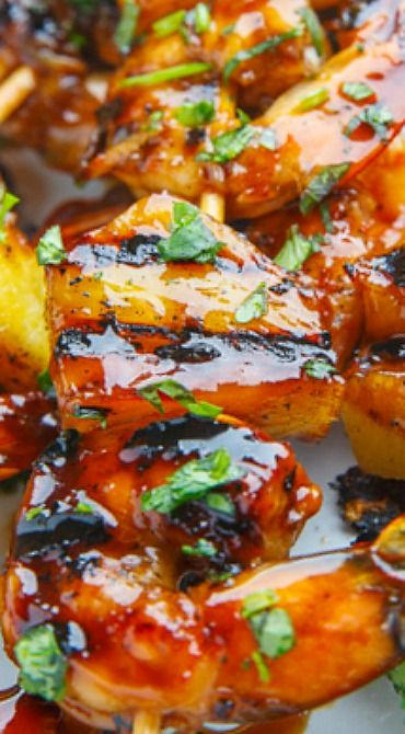 Teriyaki Grilled Shrimp and Pineapple | Posted By: DebbieNet.com |